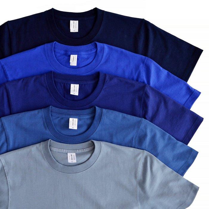 【 Wind 】BLUE TEAM 基本款 藍 7.8oz 純棉 厚短T 超厚實 16支 高品質 復古 強化衣領