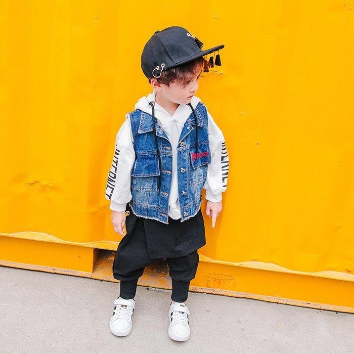 春秋款 兒童 牛仔馬甲新款 童裝 男女童馬甲韓版 寶寶 無袖外套