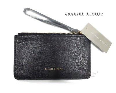 IN House* 新加坡小CK 簡約風 皮質手拿零錢包 證件卡包 手機袋 - 黑 (特價)