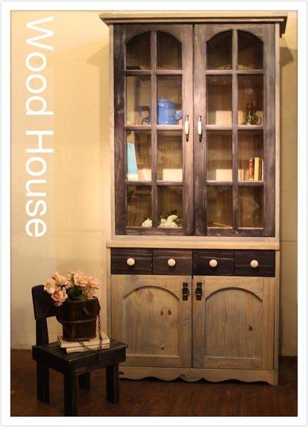 原木工坊~  手工家具台灣製造  雙色風原木收納櫃  也可做為書櫃喔~  新品上市!!!