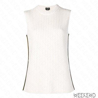 【WEEKEND】 CALVIN KLEIN 205W39NYC 無袖 針織 側編織帶 上衣 白色