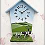 立體房屋北極熊造型壁鐘桌鐘兩用 可愛風木製動物掛鐘時鐘 靜音時鐘藝術造型鐘客廳鐘書房間營業場 促銷款【歐舍傢居】