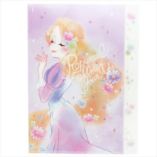 迪士尼Disney《現貨》長髮公主 樂佩 燦爛秀髮A4多層資料夾~日本製~心心小舖