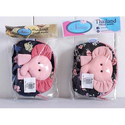 ☜男神閣☞泰國nantita娜迪塔曼谷包象頭零錢包耳機包數據線收納包
