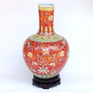 INPHIC-景德鎮 宮延御用 全手繪粉彩陶瓷花瓶 復古裝飾 擺飾