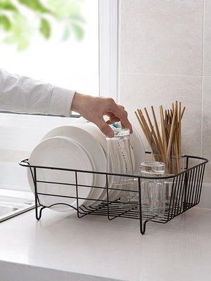 新款家居居家家鐵藝水槽碗碟架放廚具碗架瀝水架家用廚房裝碗筷碗柜置物架
