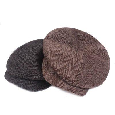 貝雷 帽 鴨舌帽-純色經典冬季保暖男女帽子2色73tv69[獨家進口][米蘭精品]