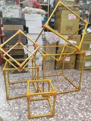 正方形鐵質烤金漆歐式幾何金鐵架//5件套婚禮道具佈置// 生日派對//