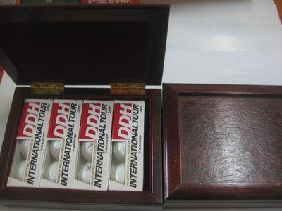 【堆堆樂雜貨店】1u╭☆自有收藏++DUNLOP DDH INTERNATIONAL TOUR高爾夫球盒(4盒12入)