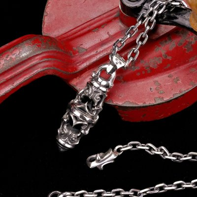 【Silver Monsters】日本一級神牌Loud Style Design 鏤空雕花銀錐項鍊(60/70cm)