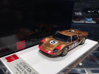 吉華科技@ 1/43 MakeUp EM301C GT40 Mk.II Le Mans 24h 1966 3rd #5