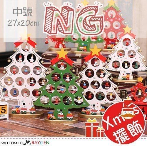 *瑕疵特賣*八號倉庫 聖誕節木製DIY鈴鐺聖誕樹桌面擺飾 中號【8T1F153NG】