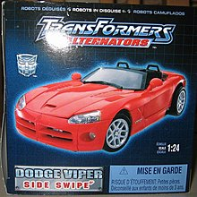 變形金剛 Transformers Alternators Dodge Viper Sideswipe
