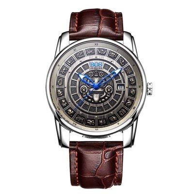 【飾碧得】安格拉寶斯手錶男士休閒鏤空時尚高檔手錶自動機械表9018