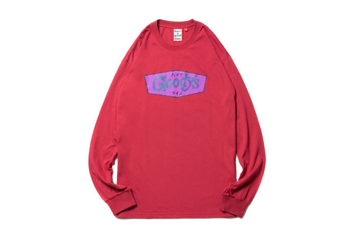"""[ LAB Taipei ] have a good time """" GOODY'S L/S TEE  """"(Cherry)"""
