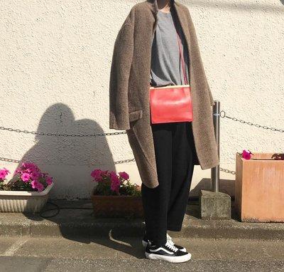 *台灣商品區*賣家珍藏 Celine 紅色 mini clasp bag
