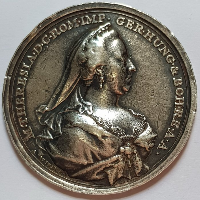 奧地利銀章 1767 Austria Habsburg Maria Theresia Recovery Medal.