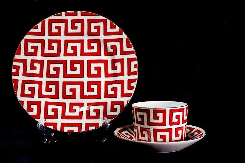 *JAZZ 棧 * 英國WedgwoodDynasty王朝系列骨瓷咖啡茶三件式杯盤組
