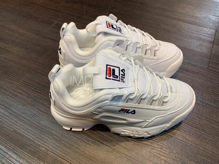 【IMPRESSION】FILA DISRUPTOR 2 厚底 鋸齒 全白 老爹鞋 女鞋 FS1HTA1071X WWT