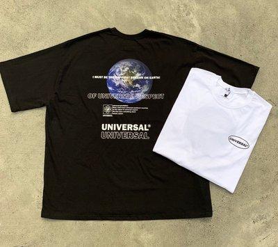 【inSAne】 韓國購入 / 地球 / 短袖 / 單一尺寸 / 黑色 & 白色