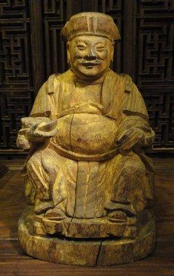 ~觀自在~收藏家釋出 清 福德正神土地公老神像 古佛