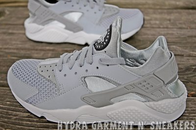 【HYDRA】Nike Air Huarache 灰 白 銀武士 男鞋 網布 US8.5~11 318429-014