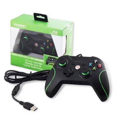 [多比特]DOBE Xbox One 有線 搖桿 手把 手柄 控制器 帶震動 PC 電腦 通用 兩用 黑色 副廠