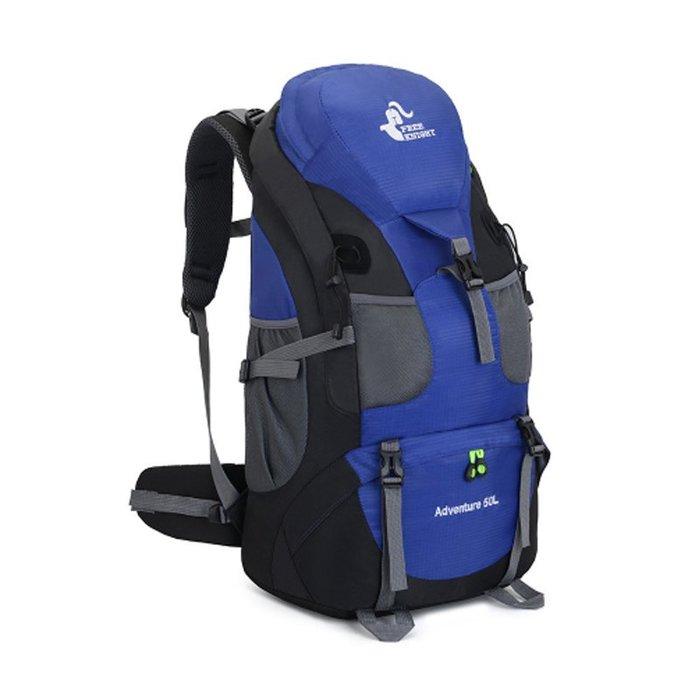 FK0396BU輕量戶外背包/登山包藍色50L
