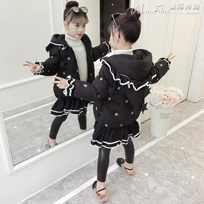 女童羽絨服棉衣2018新款韓版女孩冬裝洋氣中長款加厚棉襖兒童羽絨棉服潮