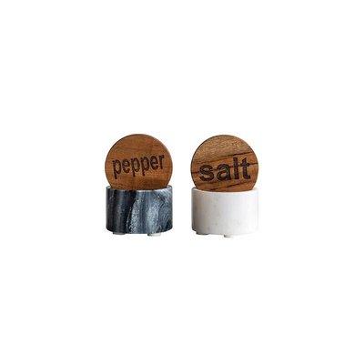 【Eze Art Deco】美國設計師傢飾, 美式鄉村風 大理石含蓋椒鹽罐 調味瓶罐調料罐廚房用品調味罐套裝