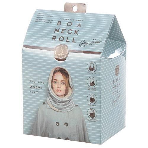 [霜兔小舖]日本代購 禮盒裝  5way 多功能 COGIT  灰白條紋  內刷毛  脖圍 圍脖