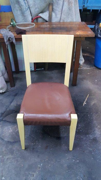 樂居二手家具 全新中古傢俱賣場 *F0603AJJ1 白橡餐椅* 書桌椅 洽談椅 餐椅 電腦椅 辦公椅 台中二手家具買賣