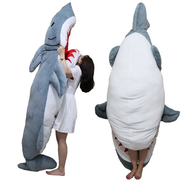 Misa Shop(居家創意)~鯊魚睡袋 鯊魚好朋友  陪睡寶貝 露營 禮物 驚喜