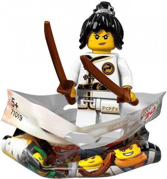 現貨【LEGO 樂高】積木/ Minifigures人偶包系列: 忍者電影 71019 | #2 練習服赤蘭 Nya