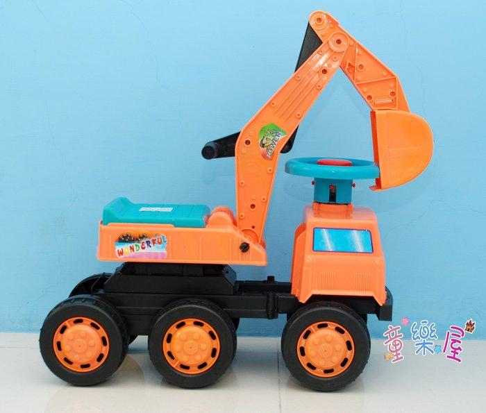 高雄玩具~大型兒童挖土機~兒童挖土機-兒童騎乘~怪手玩具~滑步車-學步車-兒童怪手~生日禮物~高雄可自取