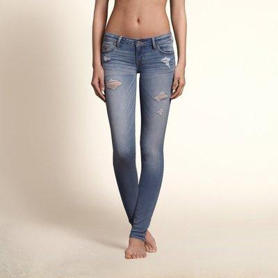 美國加州時尚女裝Hollister Ryan Super Skinny Jeans 1號破破刷超瘦版彈性牛仔褲含運現貨