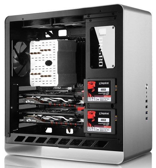 【免運】UMX4銀色RGB光效版 全鋁ATX機箱雙側鋼化玻璃側透內鋼外鋁