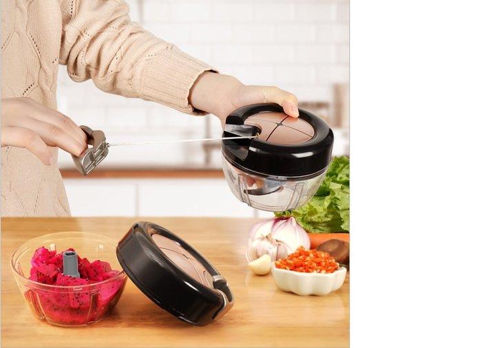 [凱溢生活用品] 切菜神器  拉線絞菜機 多功能絞肉機 家用手動碎肉機 手拉絞肉機 廚房切菜神器   絞碎機