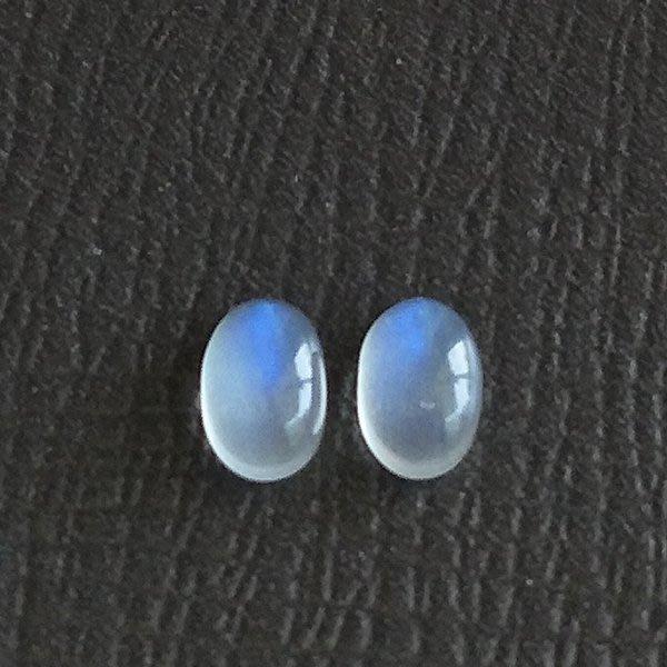 ☆采鑫天然寶石☆ **清嵐** 珠寶戒面藍月光石(Moon Stone)墜~共2.65ct~2顆合售
