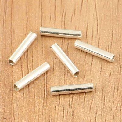 嗨,寶貝銀飾珠寶* 925純銀飾 DIY串珠配件☆直徑2mm直短管純銀配件 串珠