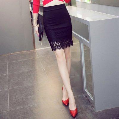 半身裙 連身裙 春夏蕾絲拼接包裙包臀一步裙修身顯瘦半身裙女職業中短裙