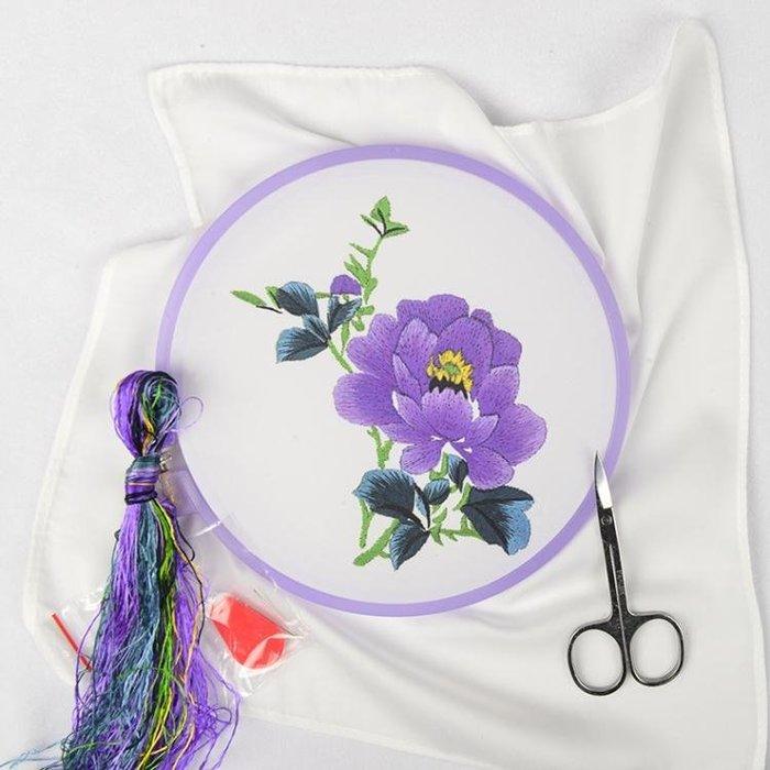 蘇繡刺繡diy初學套件工具傳統手帕材料包彼岸花刺繡古風刺繡