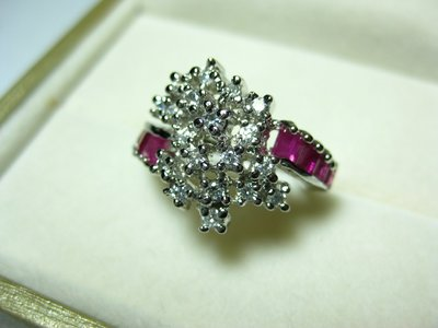 【Texture & Nobleness 低調與奢華】天然無處理 低調原創珠寶天然紅寶石戒指 純銀鍍白K