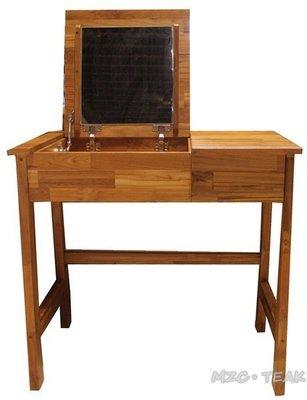 【美日晟柚木家具】TB40 簡約款柚木書桌.柚木掀蓋式化妝台.化妝桌.100%柚木(2用桌)