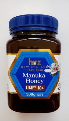 新貨到~滿千免運費~紐西蘭Hnz【Manuka Honey麥盧卡蜂蜜UMF®10+】NET 500g/罐