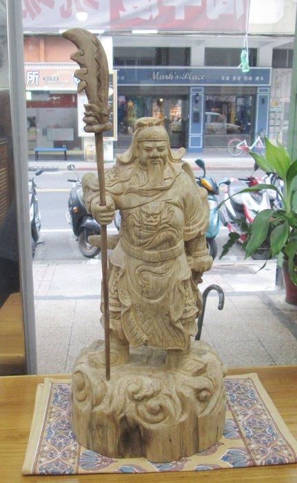 【肯萊柚木傢俱館】純手工雕刻 黃沉香木關公雕像 天然時尚 收藏品 擺飾 禮品 限量商品