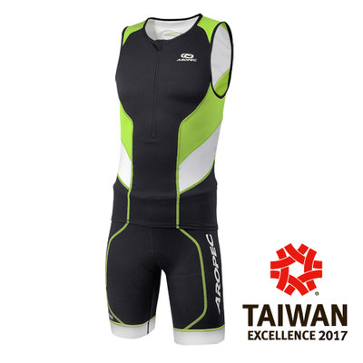 台灣潛水--- AROPEC Tri-Compress男款 無袖短褲兩件式三鐵萊克緊身衣 SS-3TC-209M