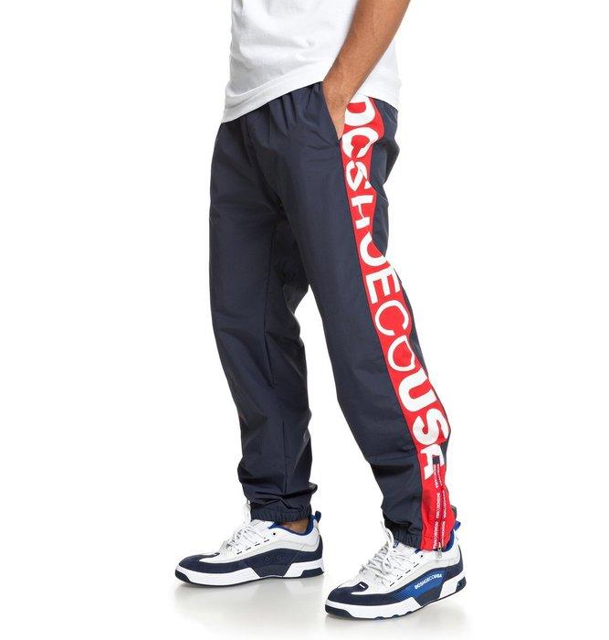 [CABAS滑板店] DC RAI TRACK PANT 藍/紅   風褲 運動 復古 防風