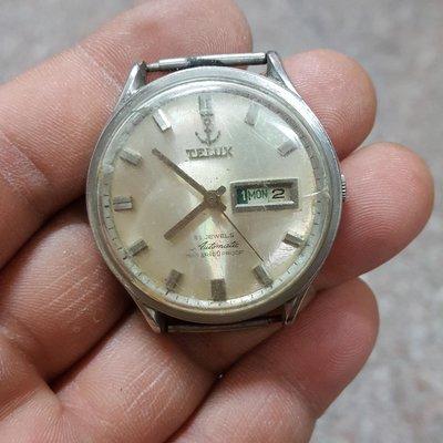 <行走順暢>大錶徑 膠鏡 TELUX 老錶 機械錶 直接賣 黑白賣 隨便賣 E04 SEIKO OMEGA ck RADO TIMEX
