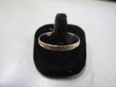立堡珠寶精品交流 NO.3005 K金素面戒指 14K金 簡約大方 首飾飾品